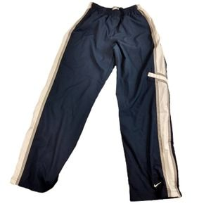 Nike Boys Navy With Gray and White Strips Pants